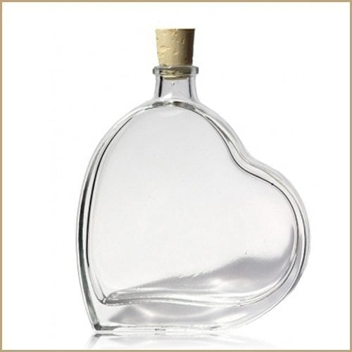 100ml glass bottle - Passion/Heart